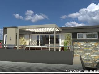 Quincho y Terraza: Terrazas de estilo  por AGB arquitectura