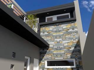 Union de lo existente con lo nuevo: Casas multifamiliares de estilo  por AGB arquitectura