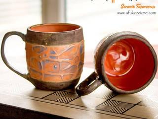 Olimpos Seramik – Kabartmalı El Yapımı Çay & Kahve Fincanları: modern tarz , Modern