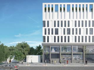 Торгово-офисное здание в Краснодаре:  в . Автор – Архитектурное бюро 'Шумливый и Партнеры',