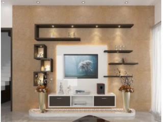 2BHK Tv unit:   by Xultant Interiors