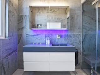 Case Study: Twickenham, TW1 モダンスタイルの お風呂 の BathroomsByDesign Retail Ltd モダン