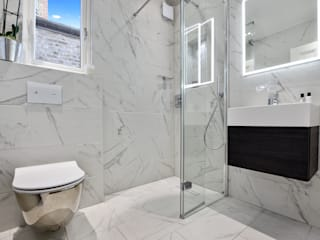 Case Study: Twickenham, TW1 BathroomsByDesign Retail Ltd Kamar Mandi Modern