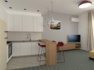 Openspace moderno con richiami vintage: Cucina in stile  di serenascaioli_progettidinterni