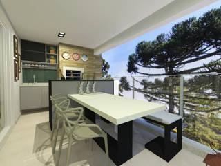 apartamento ecoville Varandas, alpendres e terraços modernos por INOVAT Arquitetura e interiores Moderno