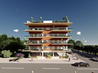 DerganÇARPAR Mimarlık Case moderne Legno Effetto legno
