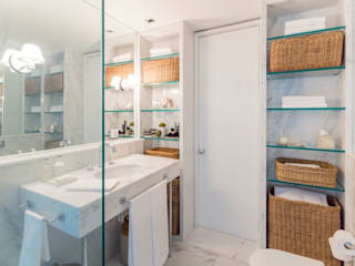 Apartamento SQS 312 Banheiros minimalistas por Fabrício Cardoso Arquitetura Minimalista