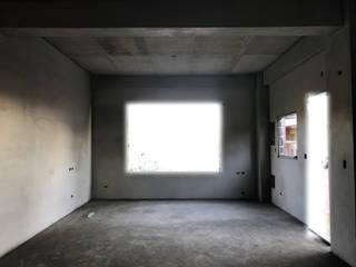 簡約、現代 水泥粉光牆面:  客廳 by 寶樹堂營造工程