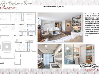 Apartamento SQS 312 por Fabrício Cardoso Arquitetura Moderno