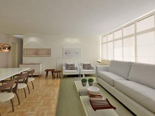 Apartamento SQS 112 Salas de estar modernas por Fabrício Cardoso Arquitetura Moderno