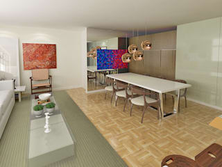 Apartamento SQS 112 Salas de jantar modernas por Fabrício Cardoso Arquitetura Moderno