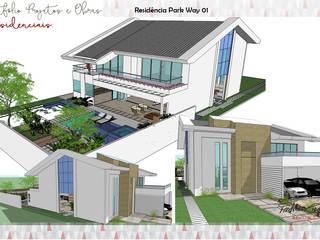 Residência Park Way 01 por Fabrício Cardoso Arquitetura Moderno