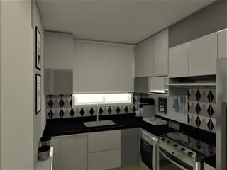 Cozinha do casal: Cozinhas  por DA.rquitetura,Escandinavo