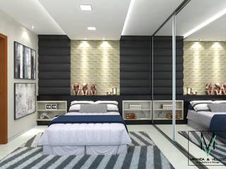 Quarto de hóspedes Quartos modernos por Miranda & Velloso Arquitetura e Design Moderno