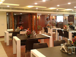 Cafeteria Design for HPCL at Scope Minar Office: modern  by HOME CITY LIFESTYLE,Modern