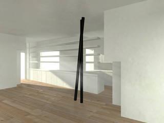 RENDER: Sala da pranzo in stile in stile Minimalista di DELISABATINI architetti