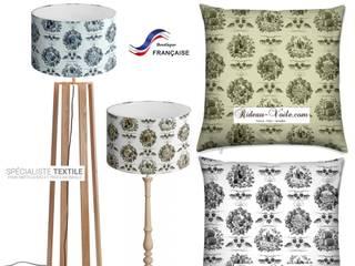 Rideau, coussin, couette, fauteuil et décoration ameublement en tissu imprimé Toile de Jouy:  de style  par Rideau-voile, Classique