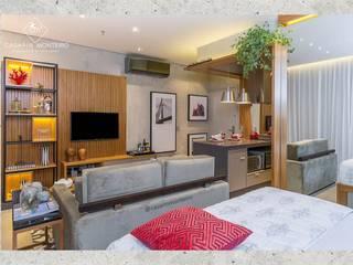 Salas de estilo moderno de CASARIN MONTEIRO ARQUITETURA & INTERIORES Moderno