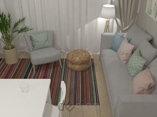 Wola III I Wizualizacja: styl , w kategorii Salon zaprojektowany przez DW SIGN Pracownia Architektury Wnętrz