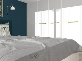 Wola IV | Wizualizacje: styl , w kategorii Sypialnia zaprojektowany przez DW SIGN Pracownia Architektury Wnętrz