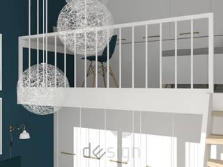 Wola IV | Wizualizacje: styl , w kategorii Domowe biuro i gabinet zaprojektowany przez DW SIGN Pracownia Architektury Wnętrz