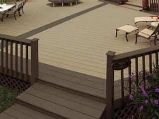 Kiinch Classic style balcony, veranda & terrace Wood-Plastic Composite Wood effect