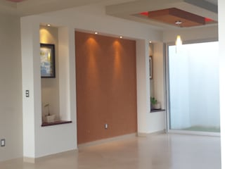 CASA SEGUNDA CERRADA: Salas de estilo  por DEC Arquitectos