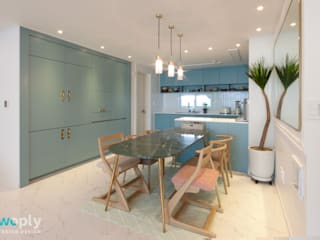 전주 신시가지 아이파크 아파트 인테리어: 디자인투플라이의  다이닝 룸