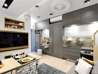 Sai Wan Ho, Hong Kong, Interior Design by Darren Design: eclectic Kitchen by Darren Design & Associates 戴倫設計工作室