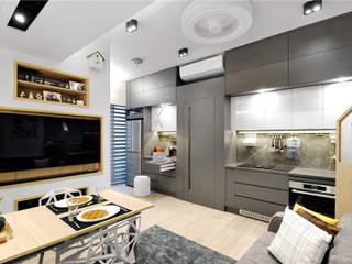 Grand Garden, Sai Wan Ho, Hong Kong:  Kitchen by Darren Design & Associates 戴倫設計工作室