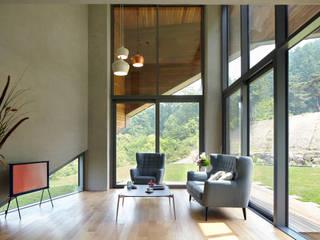 큐제이아키텍쳐 QJARCHITECTURE 现代客厅設計點子、靈感 & 圖片