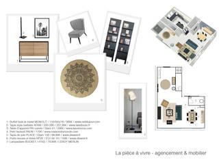 Planche agencement entrée.:  de style  par Coralie Balléry Décoration