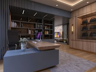Luxury modern home Magna Interior Study/officeDesks Kayu Brown
