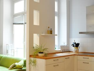 Private Wohnküche in Berlin-Friedrichshain Moderne Küchen von Juliane Kopelent Interiordesign Modern