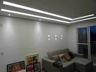 Apartamento no Taquaral Salas de estar modernas por Ambiento Arquitetura Moderno