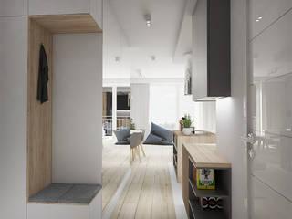 MĘSKI punkt widzenia Minimalistyczny korytarz, przedpokój i schody od INVENTIVE studio Minimalistyczny