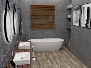 BAÑO PRINCIPAL: Baños de estilo  por JACH