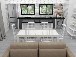 ESTAR COCINA COMEDOR: Muebles de cocinas de estilo  por JACH