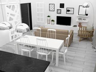 Living room by JACH, Minimalist