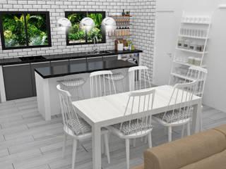 Minimalist dining room by JACH Minimalist