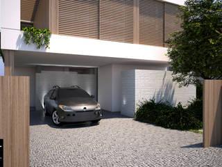 Posto auto coperto in stile  di EMF arquitetura