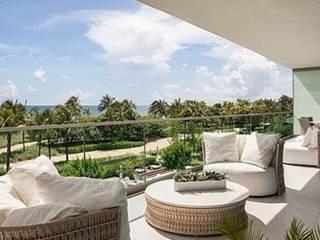 Apartamento da Família R em Miami por AeC Arquitetura e Design Mediterrâneo