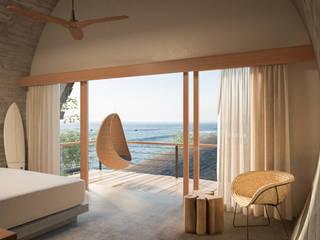 habitación:  de estilo  por ANDRÉS SAAVEDRA DESIGN