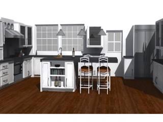 CASA ROSAS : Cocinas de estilo moderno por Incubar: Arquitectura & Construcción
