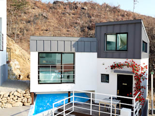 The Secret Pool Villa Resort 북한강(가평) Type Steel③: IAMDESIGN.의  호텔