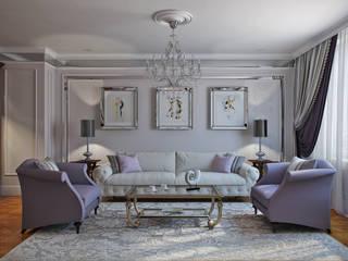 Квартира 130м2 Гостиная в классическом стиле от Частный дизайнер интерьеров Наталья Круглова Классический