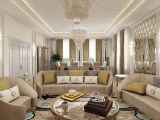 Загородный дом: Гостиная в . Автор – Частный дизайнер интерьеров Наталья Круглова