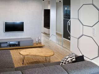 Żoliborz I I Realizacja: styl , w kategorii Salon zaprojektowany przez DW SIGN Pracownia Architektury Wnętrz