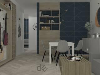Żoliborz III I Wizualizacje: styl , w kategorii Salon zaprojektowany przez DW SIGN Pracownia Architektury Wnętrz