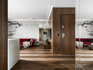 APARTAMENT NAD MOTŁAWĄ - GDAŃSK Klasyczny korytarz, przedpokój i schody od Anna Serafin Architektura Wnętrz Klasyczny